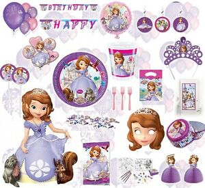 disney sofia die erste prinzessin party geburtstag deko kindergeburtstag ebay. Black Bedroom Furniture Sets. Home Design Ideas