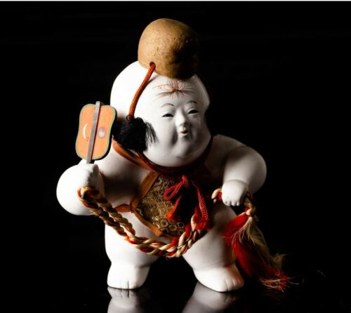 "Japanese Antique Gohun Gosho Doll 7.5"" Early Showa Period"