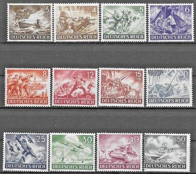 Germany Third Reich Mi# 831-842 MH Armed Forces and Hero's Day 1943  *
