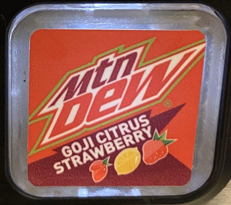 MTN DEW - GOJI CITRUS STRAWBERRY - RARE USA FOUNTAIN FLAVOR -In Two 20oz Bottles