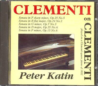 CLEMENTI - 5 Piano Sonatas - Peter KATIN - Athene