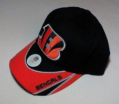CINCINNATI BENGALS Football NFL Team Apparel Adjustable Baseball Hat Adult NWT