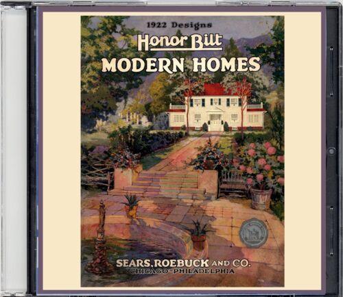 1922 Sears HonorBilt Modern Homes Catalog on CD- Plans