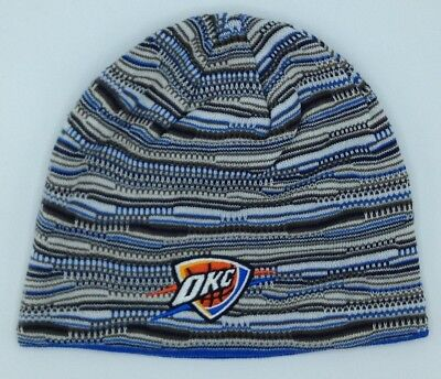 be023a61eca7bb NBA Oklahoma City Thunder Adidas Cuffless Winter Knit Hat Cap Beanie NEW
