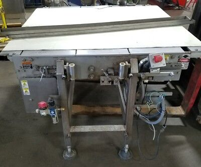 50 X 60 Stainless Steel Sanitary White Belt Conveyor Food Grade