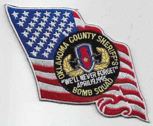 Bomb Squad EOD Oklahoma County Sheriff State OK US FLAG patch NEAT