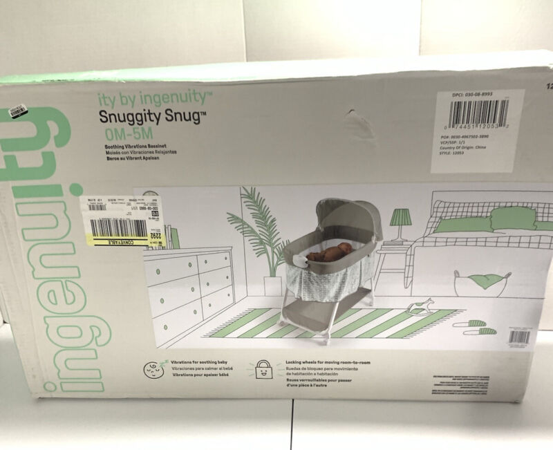 Ingenuity Snuggity Snug Soothing Vibrations Bassinet Newborn Baby 12053