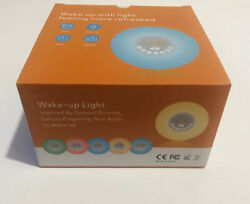 Wake Up Light Natural Sunrise Sunlight Alarm Clock With Natural Sounds & FM