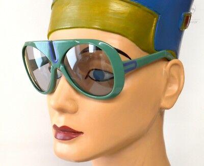 Orig. 1970s SILHOUETTE FUTURA 572 Ltd Shades Green Violet FASHiON HiSTORY OO NOS