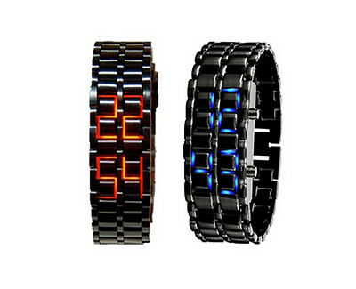 Lava Style Iron Watch Bracelet Japanese Inspired LED Digital Sport Wrist Watch Bracelet Style Wrist Watch