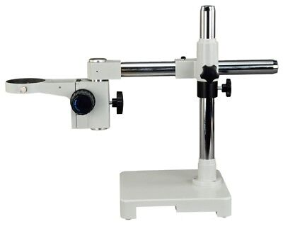Omax Heavy Duty Single-arm Stereo Microscope Boom Stand W Focusing Racking 76mm