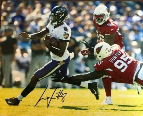 Lamar Jackson Signed Baltimore Ravens 8x10 Signed Photo Reprint