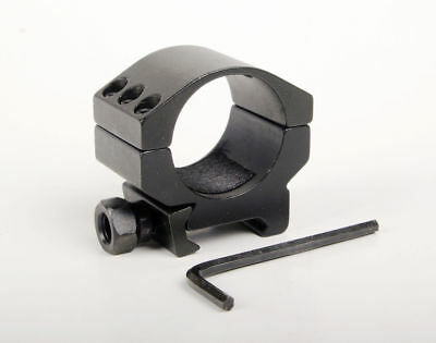 1X Low Profile Ring Weaver Picatinny Rail Scope Mount Heavy Duty 6 Bolts 30mm for sale  Shipping to Canada
