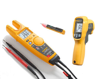 Fluke T6-1000 Tester 1acii And 62 Max Ir Infrared Thermometer Electrician Kit