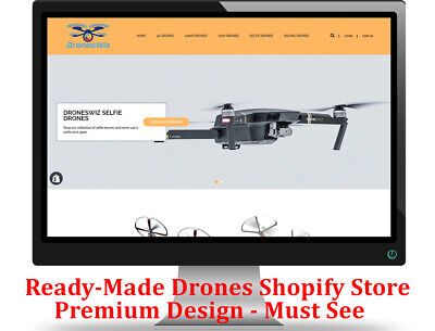 Shopify Dropshipping Drones Storewebsite - Ready Made - Premium Design Must See