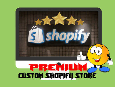 Custom Premium Shopify Dropshipping Storewebsite