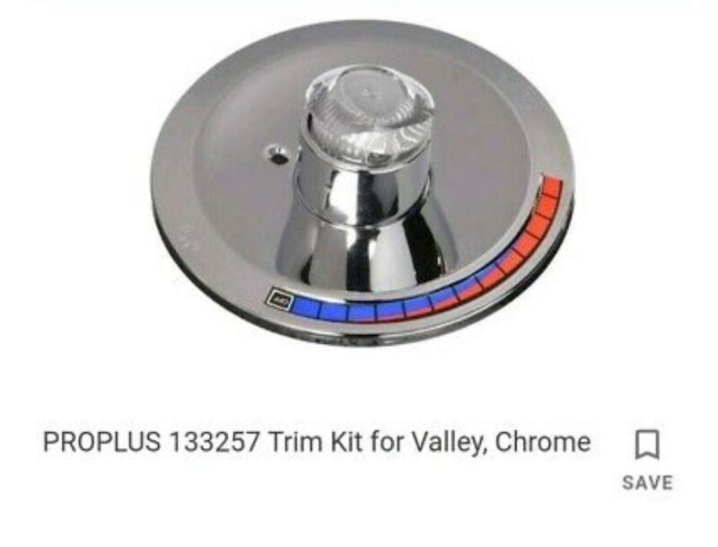 Tub and shower trim kit For Valley - Fits Single Lever T&S Valve