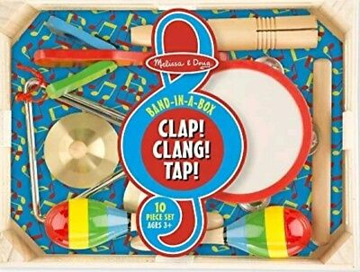 Melissa and Doug Band in a Box Clap Clang Tap 10 Piece Musical Instrument Set  (Melissa And Doug Musical Instruments)