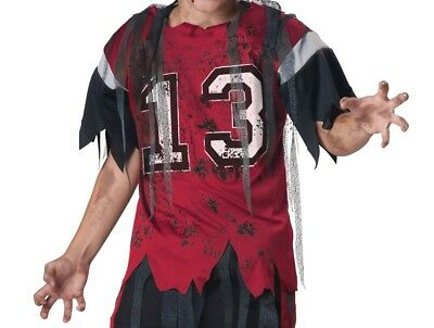 Dead Zone Boy's Zombie Football Halloween Costume Top Only Size 12 - XL - Football Zombie