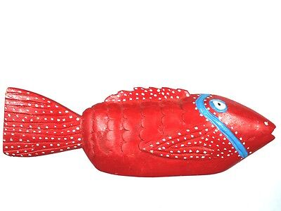 Art African Arts Ethnographic - Remarkable Fish Bozo Painted - 36,5 Cm
