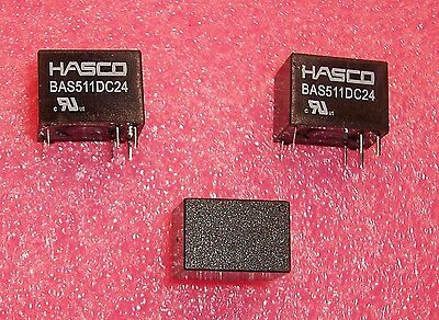 Qty 10 Bas511dc24 Hasco 24v 5a Spdt Single Button Relay