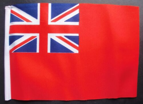 """RED ENSIGN BUDGET FLAG small 9""""x6"""" Great Britain British BUDGET NAVY"""