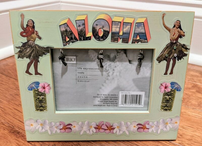 Vintage 2003 Hawaiian Aloha 3X5 Picture Frame From Target