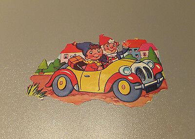 Großes Stammbuchbild Glanzbild ♥ Zwerge im Auto Cabrio ♥ 12 x 8 cm = wie NEU