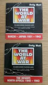 2 x world at war promotional dvds