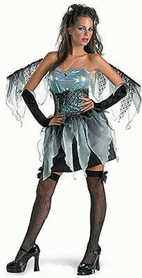 Ladies Girls Frost Fairy Blue Ice Queen Fancy Dress Costume Outfit Wings New - Blue Ice Queen Kostüm