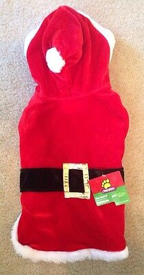 NWT Top Paw Dog Cat Pet Red Santa Suit Medium