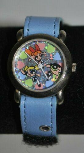Powerpuff Girls Blossom Bubbles Buttercup Cartoon Network analog watch USED