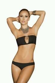 Black Silver Chain Bikini