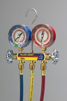 Yellow Jacket 42201 Series 41 Manifold R-22 404a 410a 60 Ball Valve Hoses
