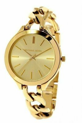 Michael Kors MK3222 Slim Runway Gold Dial 42mm Women's Watch