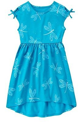 NWT Gymboree Girl Wildflower Weekend Teal Dragonfly High-Low Dress 6 7 8 10 - Wildflower Girls
