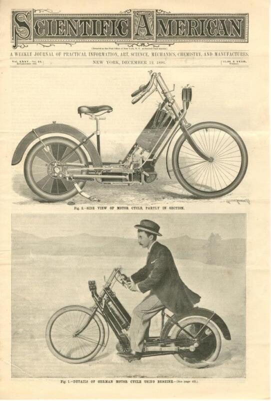Benzine Motor Cycle  -  1896