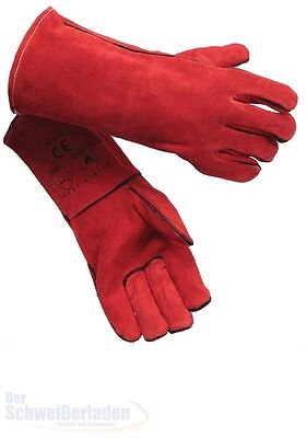 "Schweißerhandschuhe MAG Hitzehandschuh Simply Red Gr.10 ""Premium"" ""NEU"""