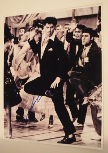John Travolta Signed Autographed 11x14 Photo GREASE SATURDAY NIGHT FEVER COA VD
