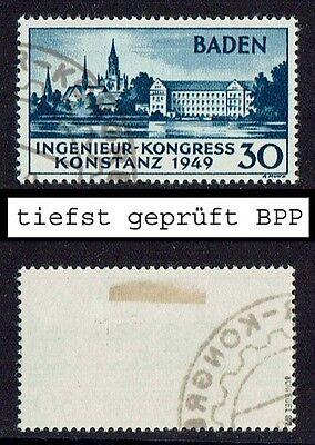 Französische Zone Baden Mi. Nr. 46 I tiefst geprüft gestempelt Jahrgang 1949 (65