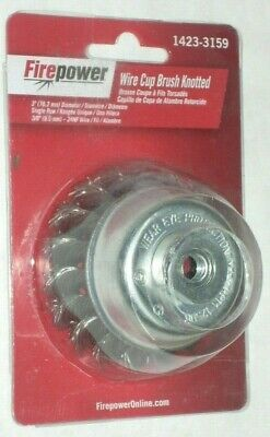 Victor Firepower 1423-3159 Knot Cup Brush 1423-3159 3 X 38-24 For Angle Grinder