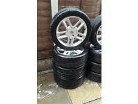 "17"" Renault wheels with good tyres 5 stud 225/45/17"""