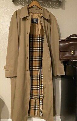 Vintage Burberry Nova Check Trench Coat W/ Zip Out Men's Size 38L 100% Authentic