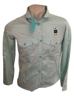 Camicia da uomo Estiva Blauer Usa Maglia Manica Lunga Cotone Leggera Size XL
