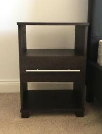 Bedside tables x 2 - brown wood