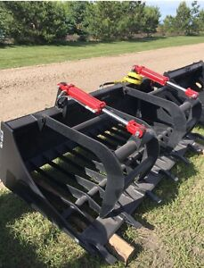 """New 78"""" rock grapple attachment for skid steer"""