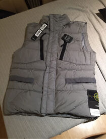 Stone island body warmer gilet jacket crinkle reps NY down brand new genuine mens RRP £395