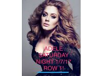 2 x ADELE TICKETS - 01/7/17 SAT NIGHT ROW 1 SOLD OUT!