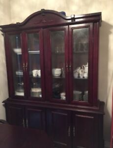 Dining Table + 6 Chairs + China Cabinet for SALE!