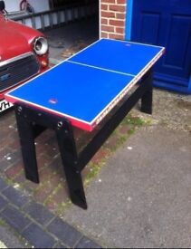 Dual ping pong/table tennis table & table hockey - flip over table
